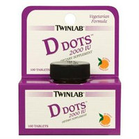 Twinlab Vitamin D Dots, 2000 IU 100 tablets