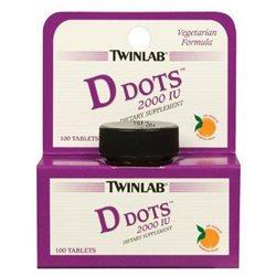 Twinlab Vitamin D Dots, 2000 IU 100 tablets