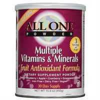All One Nutritech Fruit Antioxidant Multiple Vitamin and Mineral Powder - 15.9 oz - Vegan