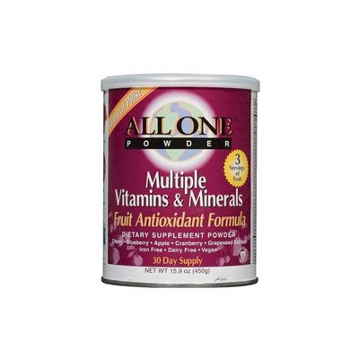 All One Nutritech Fruit Antioxidant Multiple Vitamin and Mineral Powder - 15.9 oz - Vegan