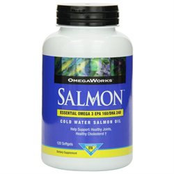 OmegaWorks Fish Salmon Oil, 120 Softgels, Windmill Health Products