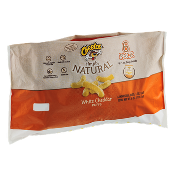 Cheetos Simply Natural White Cheddar Puffs