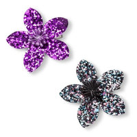 Fantasia Accessories Girls' 2-Pack Glitter Flower Clip
