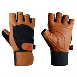 Valeo Ocelot Wrist Wrap Lifting Gloves-Tan-L