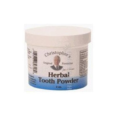 Herbal Tooth & Gum Powder, 2 oz, Christopher's Original Formulas