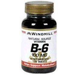 Windmill Vitamin B-6, 100 mg Tablets - 100 Ea
