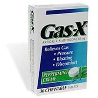 Gas-X Antigas, Chewable Tablets, Peppermint Creme 36