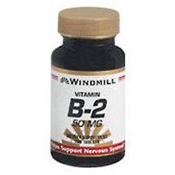 Vitamin B-2 50 mg, 100 Tablets, Windmill Health Products