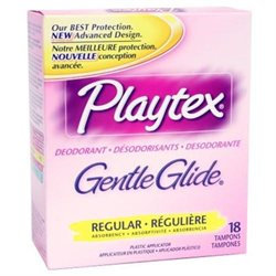 Playtex Gentle Glide Deodorant Soft Plastic Applicator Tampons