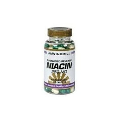 Windmill Niacin 250 mg Sustained Release Capsules - 100 Ea