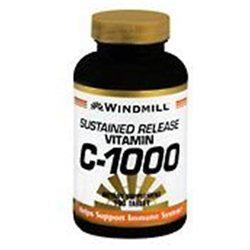 Vitamin C-1000 mg SR, 100 Tablets, Windmill Health Products
