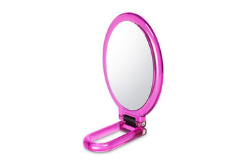 Bh Cosmetics Folding Handheld Makeup Mirror-Pink