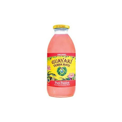 Guayaki Tea Iced, Mate Passion Fruit, 16-Ounce Glass(Pack of 12)