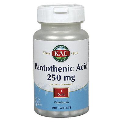 Kal Pantothenic Acid 250 mg - 100 Tablets