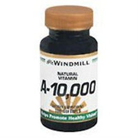 Vitamin A 10,000 IU, 100 Softgels, Windmill Health Products