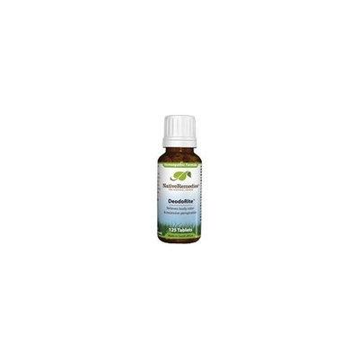 DeodoRite - Eliminates Body Odor, 125 Tablets,(Native Remedies)