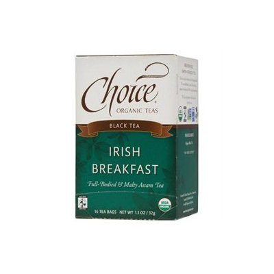 Choice Organic Teas Black Tea, Irish Breakfast, 16 bags