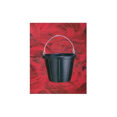 Fortex Industries Inc Rubber Pail- Black 10 Quart - N200 BLACK