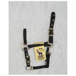Hamilton Halter Company - Adjustable Chin Halter With Snap- Black Pony - 3DAS POBK