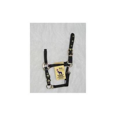 Hamilton Halter Company - Adjustable Chin Halter With Snap- Black Pony - 3DAS POBK