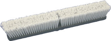 Birdwell Cleaning Products Flagged Push Broom Head Gray 18 Inch