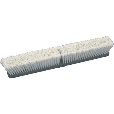 Birdwell Cleaning Products Flagged Push Broom Head Gray 24 Inch