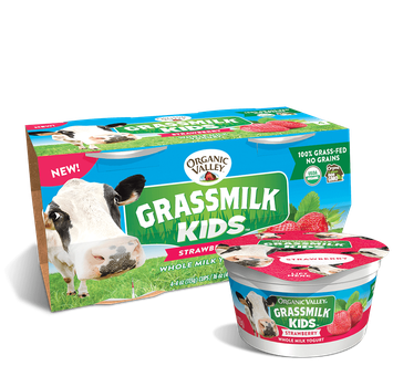 Organic Valley® Strawberry Grassmilk Kids Yogurt Cup