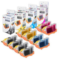 LD Canon i560 and Pixma iP3000 Compatible Set of 10 Ink Cartridges: 4 Black, 2 each C/M/Y
