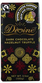 Divine Chocolate Dark Chocolate Hazelnut Truffle 3.5 oz