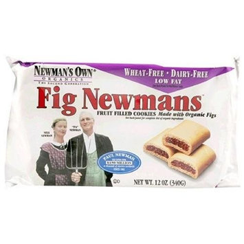 Newman's Own man's Own Organics Fig Newmans, Wheat-Free & Dairy Free, 12-Ounce Packages (Pack of 12)