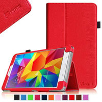 Fintie Folio Premium Vegan Leather Case Cover for Samsung Tab 4 7.0 7-Inch Tablet, Red