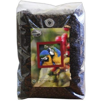 Organic Camano Island Coffee Roasters Brazil, Dark Roast, Whole Bean, 5-Pound Bag