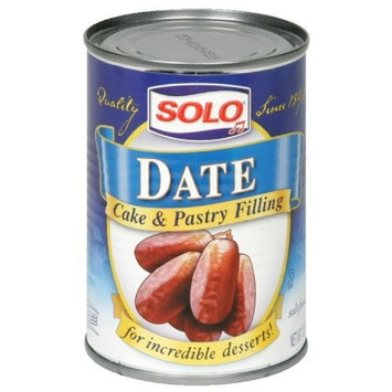 Solo Date Filling, 12.5-Ounce (Pack of 6)