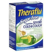 Theraflu Severe Cold & Cough, Nighttime, Sugar-Free, Honey Lemon Flavor, 6 ct.