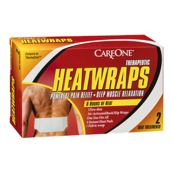 CareOne Therapeutic Heatwraps Powerful Pain Relief - Deep Muscle Relaxation - 2 CT