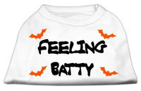 Mirage Pet Products 511305 SMWT Feeling Batty Screen Print Shirts White Sm 10