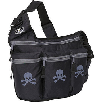 Diaper Dude Skull and Crossbones Diaper Bag - Black