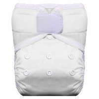 Thirsties Reusable Pocket Diaper with Hook & Loop, One Size - White