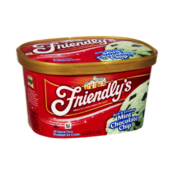 Friendly's Rich & Creamy Mint Chocolate Chip Premium Ice Cream