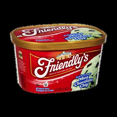 Friendly's Rich & Creamy Mint Chocolate Chip Premium Ice Cream