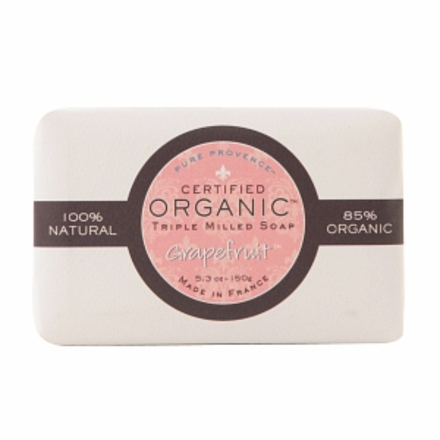 Pure Provence Certified Organic Grapefruit Triple Milled Soap