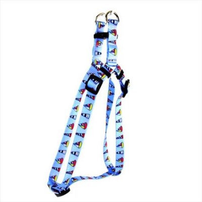 Yellow Dog Design SI-SL102M Sailboats and Lighthouses Step - In Harness - Medium