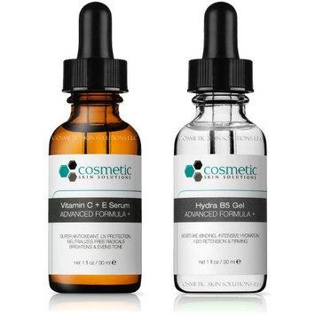 Cosmetic Skin Solutions LLC Best Vitamin C+E Serum + Hydrating B5 Gel Advanced Formula +. Prevent / Hydrate - 2 Combo Pack - 1 fl oz / 30 ml each.