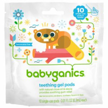 BabyGanics: BabyGanics Benzocaine Free Teething Gel Pods 10 count