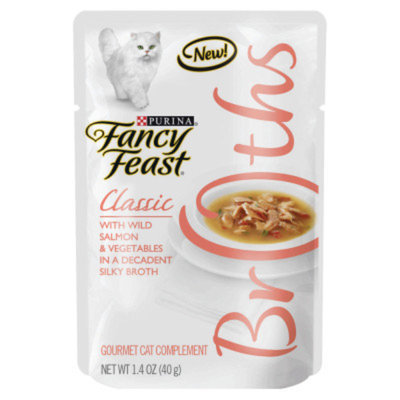 Fancy Feast® Wet Cat Food With Wild Salmon & Vegetables In A Decadent Silky Broth