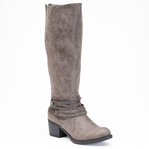 SO® Women's Ankle Detail Tall Riding Boots
