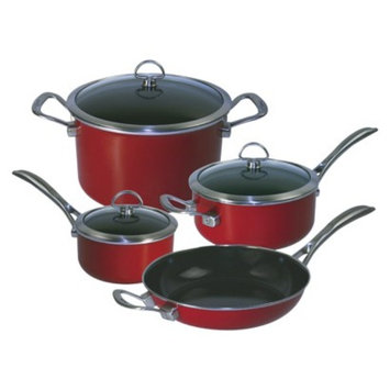 Chantal Copper Fusion 7pc Cookware Set-Red