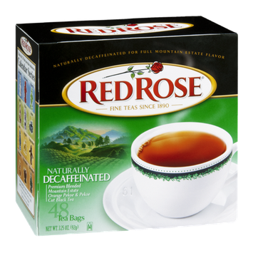 Red Rose Tea Bags Naturally Decaffeinated - 48 CT