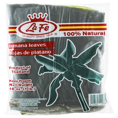 La Fe Banana Leaves Plantains Leaves Hoja De Platano for Cooking and Decoration 16oz