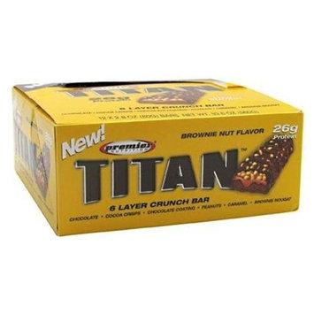 Premier Nutrition, Titan 6 Layer Crunch Bar 12 - 2.8 oz (80 g) bars [33.6 oz (960 g)]
